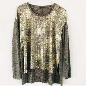 Zara Collection Tops - ZARA COLLECTION Gold Metallic Party Blouse Sz. Lg